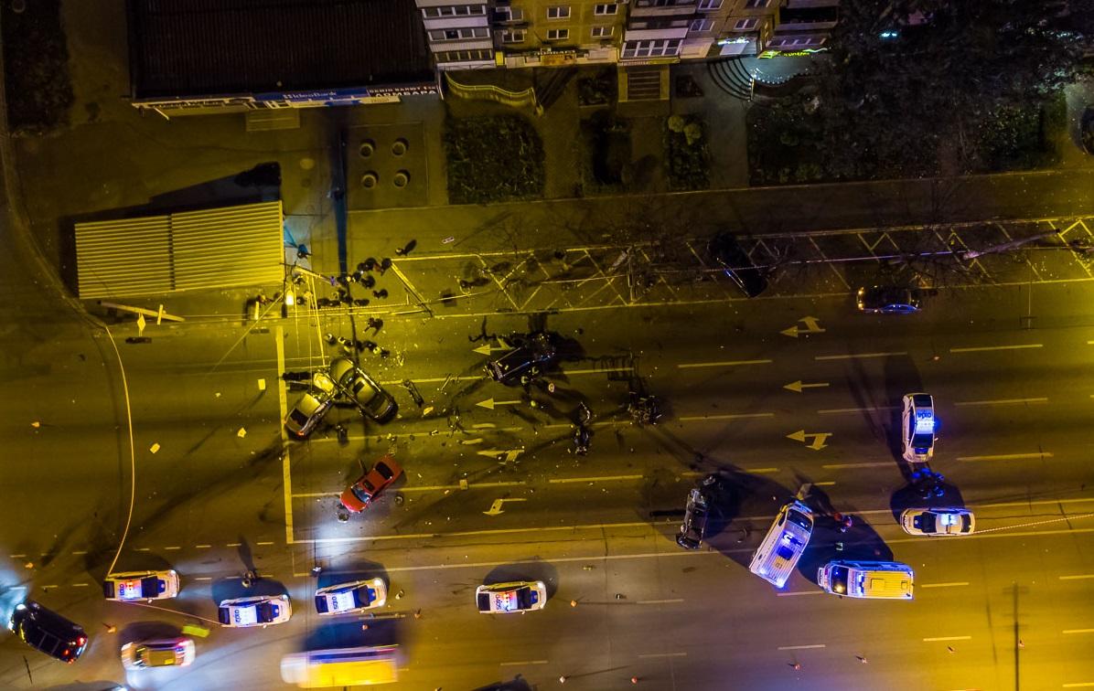 ДТП з 5 автомобілями на Слобожанському: Honda розірвало на частини, загинула жінка